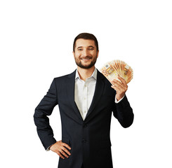 man holding paper money