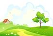 Rural spring scene