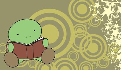 turtle baby cartoon reading wallpaper