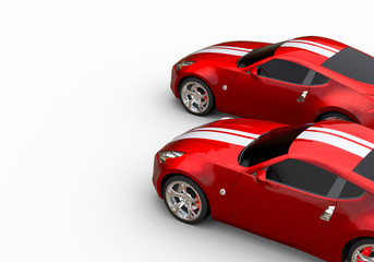 A CG render of a generic luxury sports car red