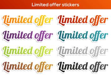 Limited offer sticker set