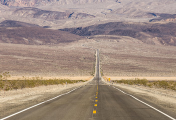 Highway into Death Valley National Park