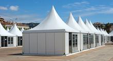 """Постер, картина, фотообои """"Cannes - Market stalls on the Croisette"""""""