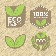 Eco friendly label set