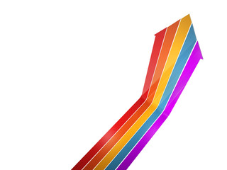 colorful arrow up