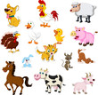funny Farm animals set