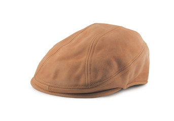 Leather Tweed Cap