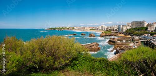 Leinwanddruck Bild Biarritz view