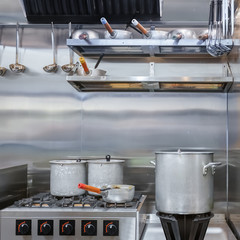 Professional kitchen in a restaurant