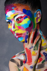 Woman with faceart