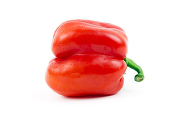 Fresh red paprika, isolated