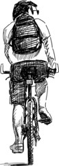 sketch of a bicyclist