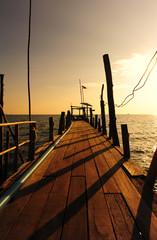 Wood Dock at the Sea