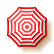 Beach umbrella, top view. - 65174062