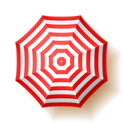 Beach umbrella, top view.