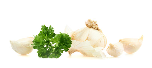 Garlic with a parsley beam