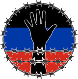 violation of human righs in Donetsk poster