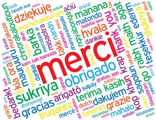 "Carte ""MERCI"" (message remerciements gratitude félicitations)"