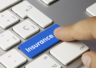 Insurance. Keyboard