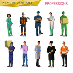 Polygon style uniform professionals set (doctor, cop etc)