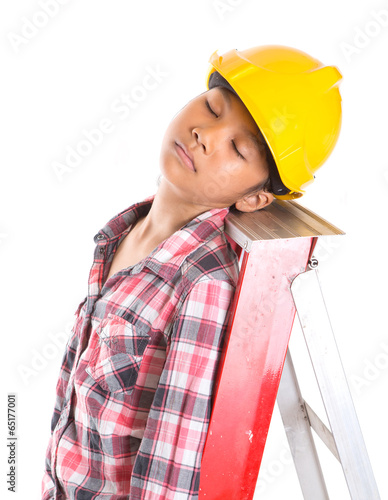Concept image of sleeping on a job