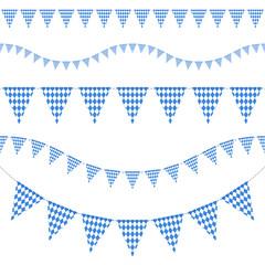 5 Seamless Octoberfest Festoons Blue
