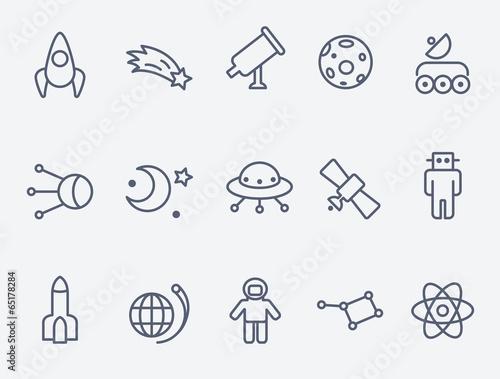 Fototapeta Space icons