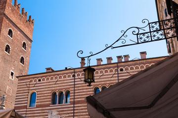 Italy, Verona, elegant street lamp