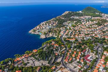 Aerial panorama of Dubrovnik