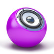Purple sphere speaker