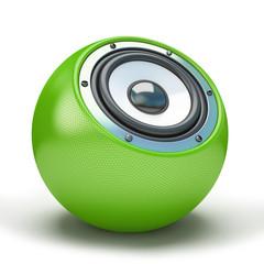 Green sphere speaker