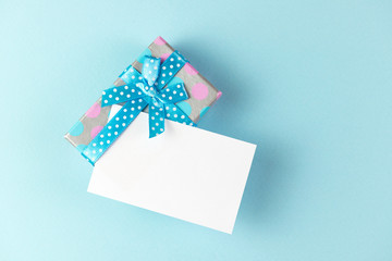 Gift box with plain card