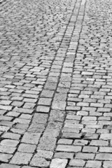 Old cobblestone street in Prague