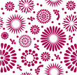 Red Vintage Vector floral background Seamless pattern
