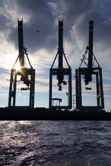 Verladekräne Hafen Hamburg