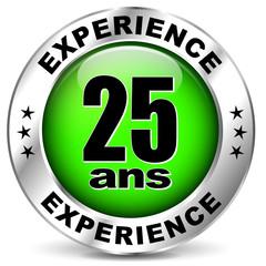 vingt cinq ans d'experience