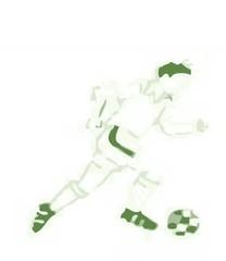 Futbolista corriendo con balón