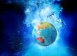 australia globe underwater