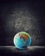 asia globe on ground