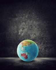 australia globe on ground