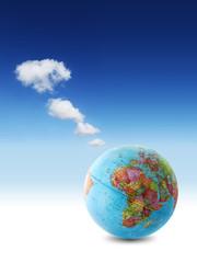 africa globe clouds