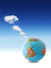 usa world clouds