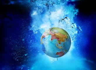 asia globe underwater