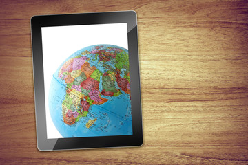 globe desk tablet