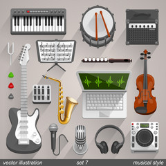Vector musical style. set 7