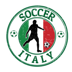 Italy soccer stamp