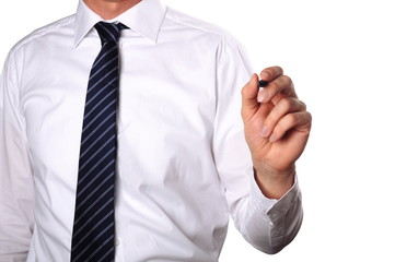 business man with pen