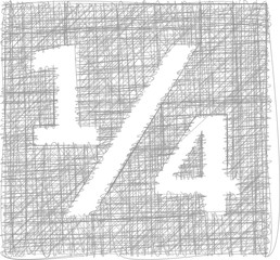 quarters sign - Freehand Symbol