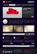 Website template in modern dark design
