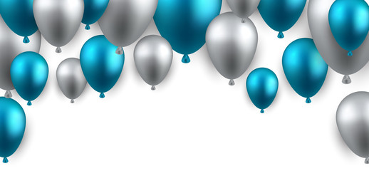 Celebrate arch background with balloons.